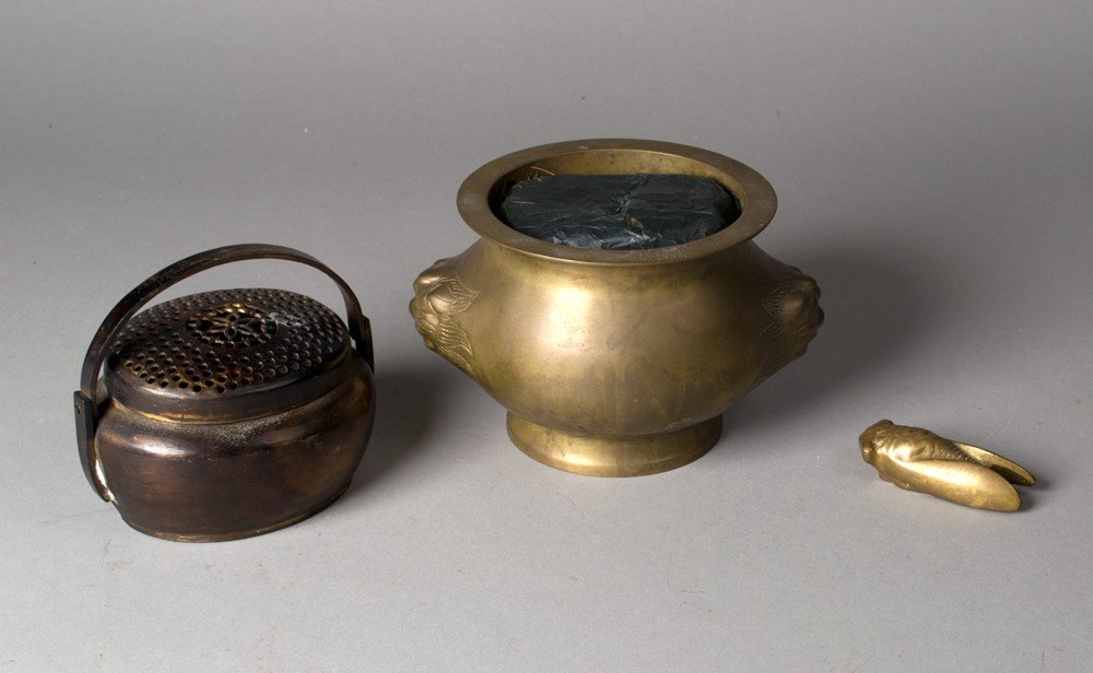 662: (3) Chinese Bronze Pieces