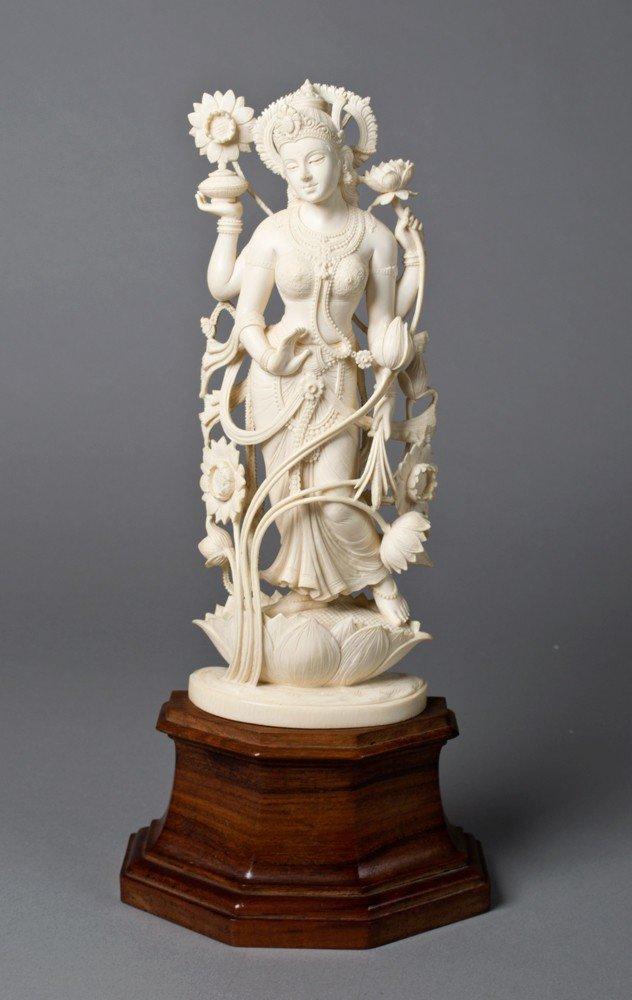 663: Indian C.S. Visnam Ivory Figure