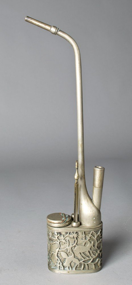 666: A Chinese Silver Opium Pipe