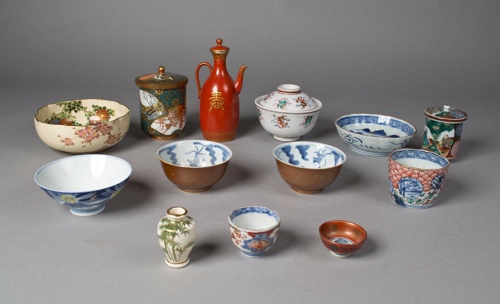701: (13) Pieces Japanese Porcelain