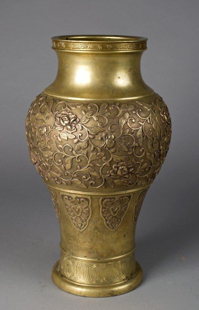 705: Large Japanese Meiji Bronze Vase