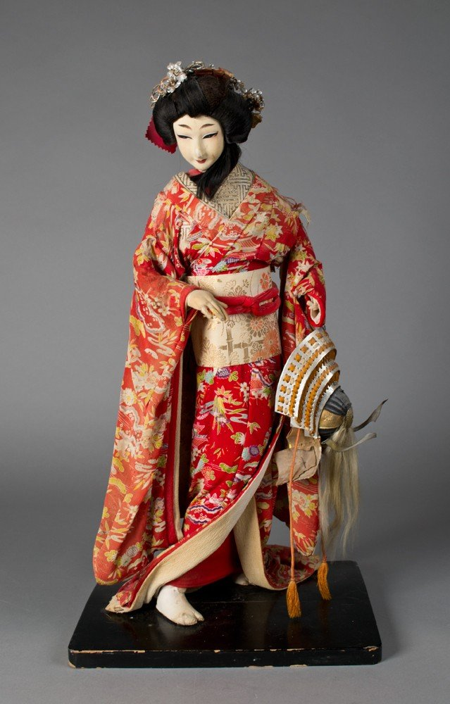 716: Japanese Cloth and Composition Standing Doll