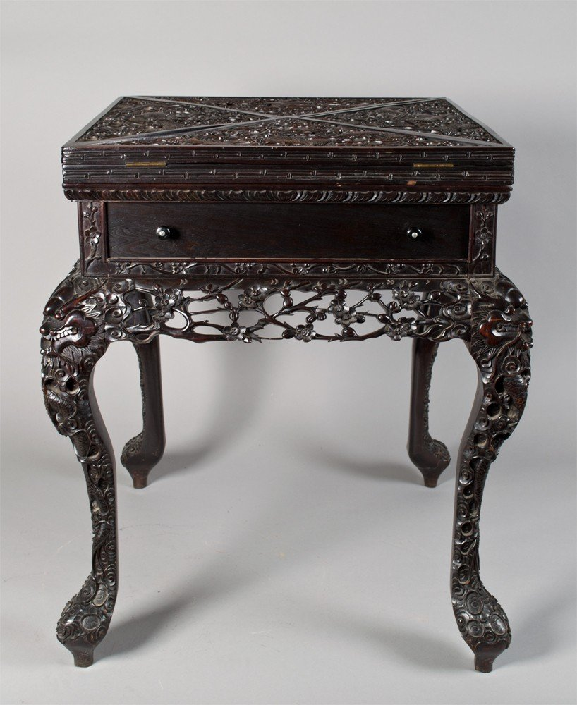 717: A Very Fine Chinese Rosewood Games Table