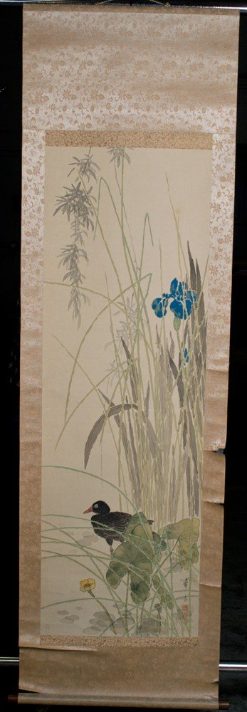 23: A Fine Japanese Scroll Painting On Silk
