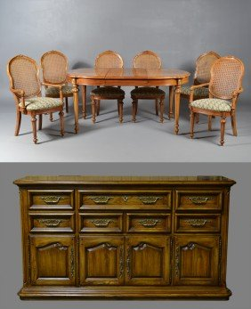 11: (9) Piece Country French Thomasville® Dining Set