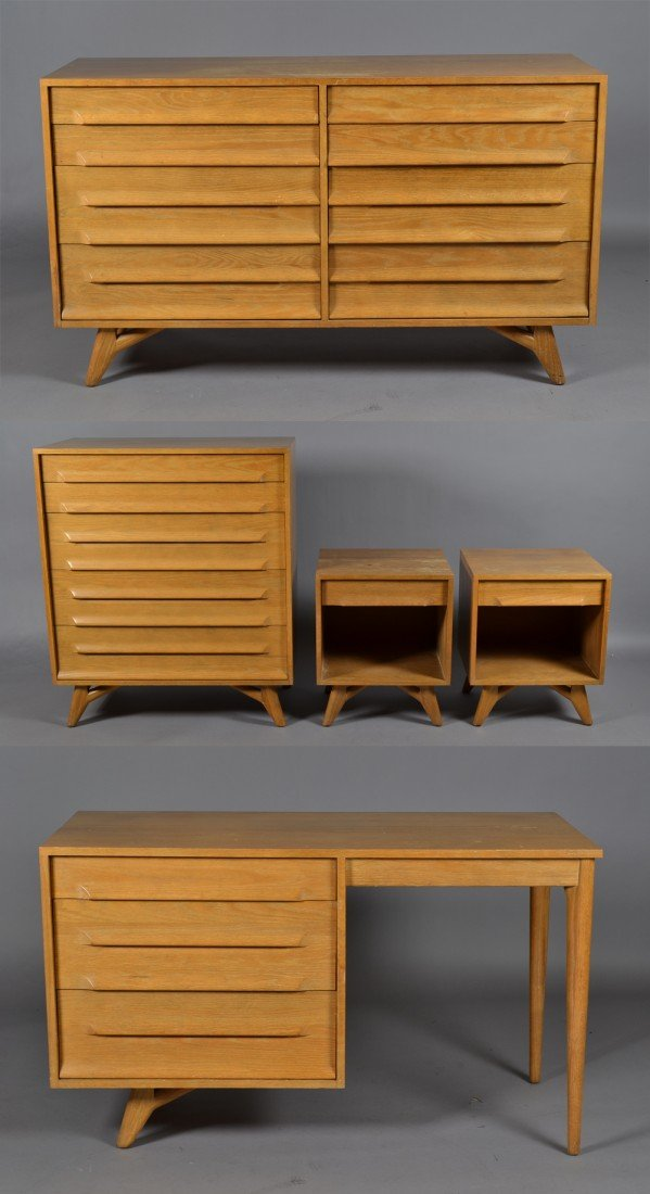 21: 5 Pc. Mid Century Bedroom Set