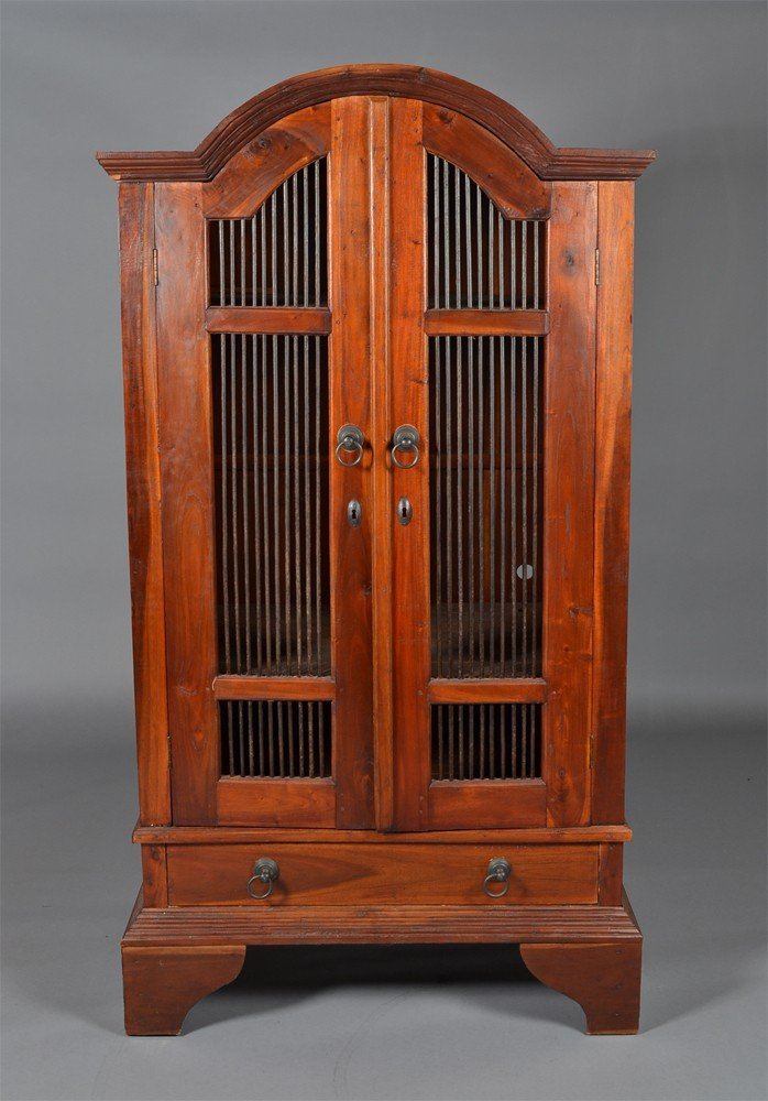 23: Chinese Wood and Iron Two Door Cabinet