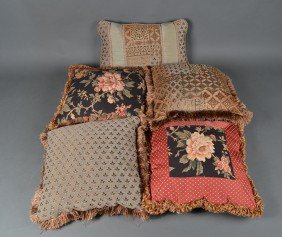 24: Grouping of (5) Throw Pillows