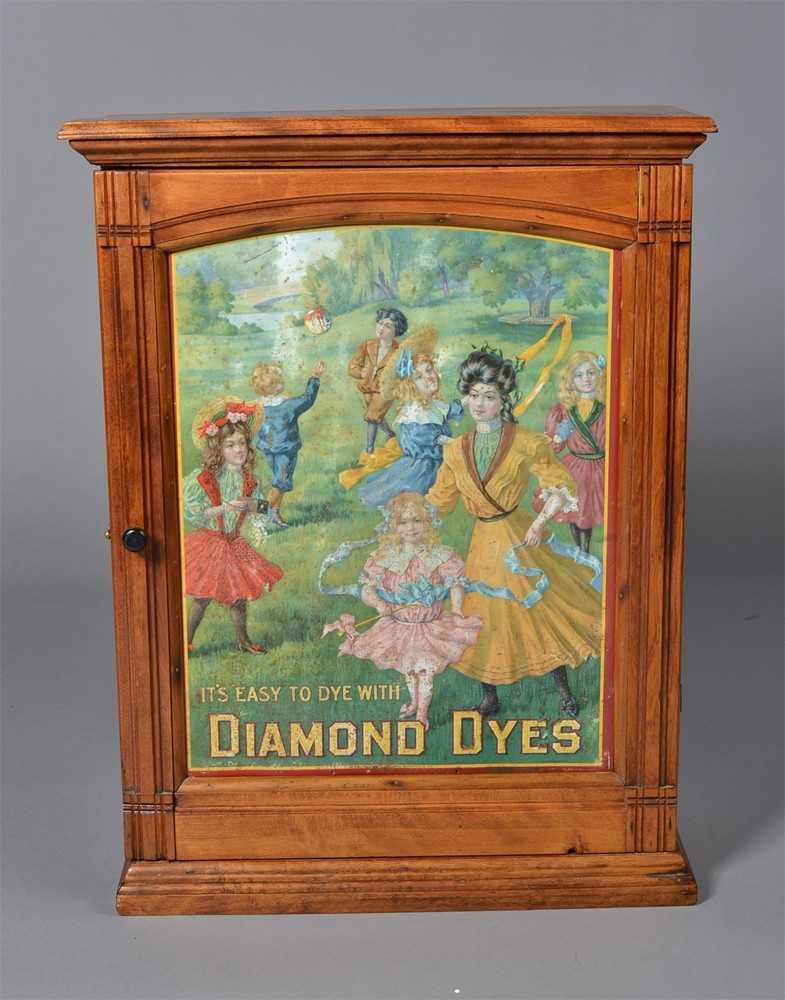 30 Antique Diamond Dyes General Store Cabinet