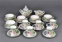 479: (24) Piece Japanese Porcelain Tea Set