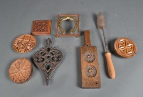 485: Grouping of (8) Primitive Kitchen Articles