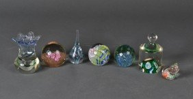 (7) Glass Paper Weights