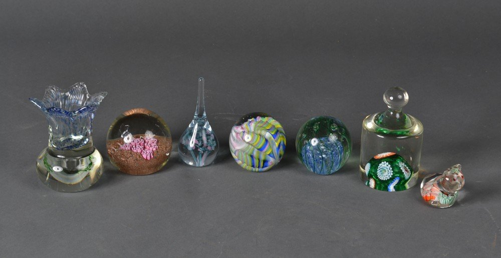487: (7) Glass Paper Weights