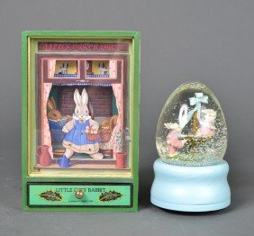 490: Bunny Snow Globe and Music Box