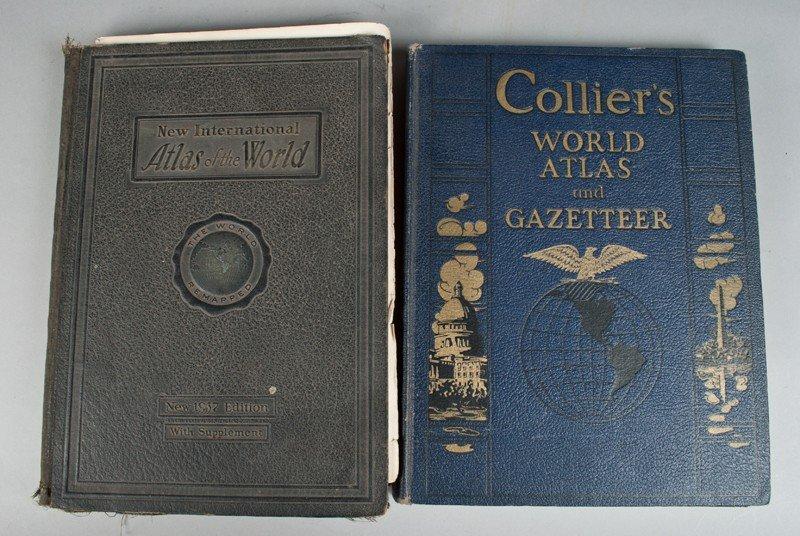 491: (2) Collier's & New International Atlas Books