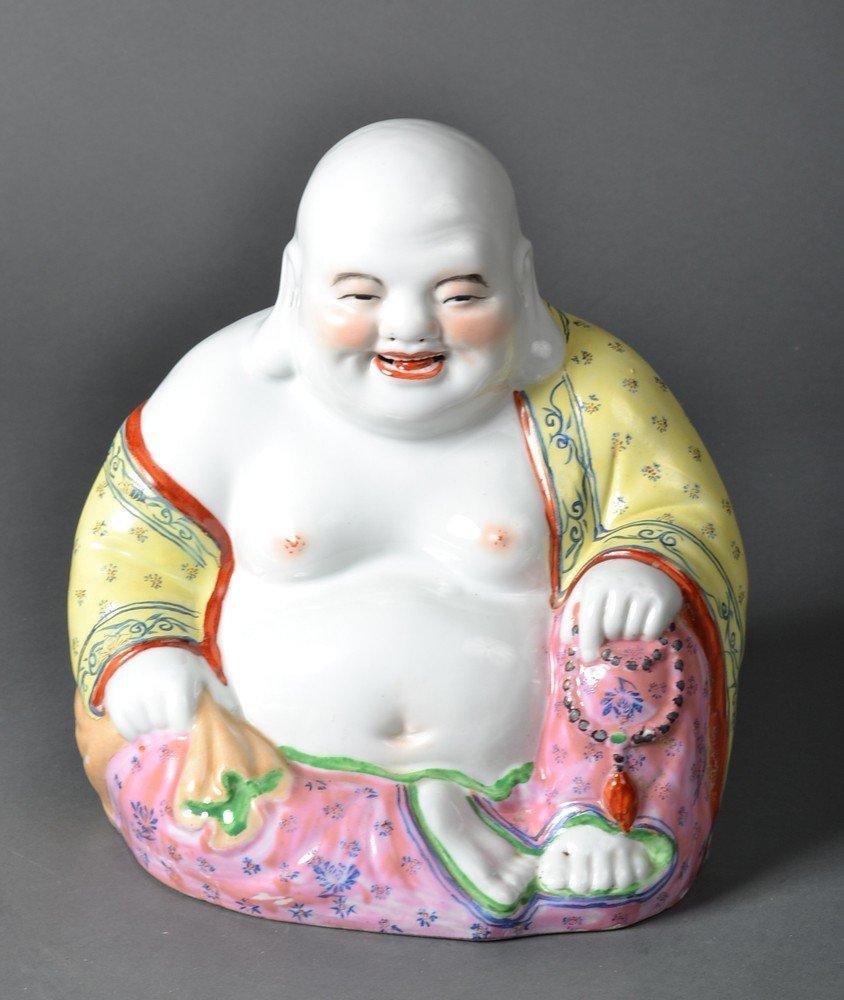 493: Chinese Famille Rose Happy Buddha