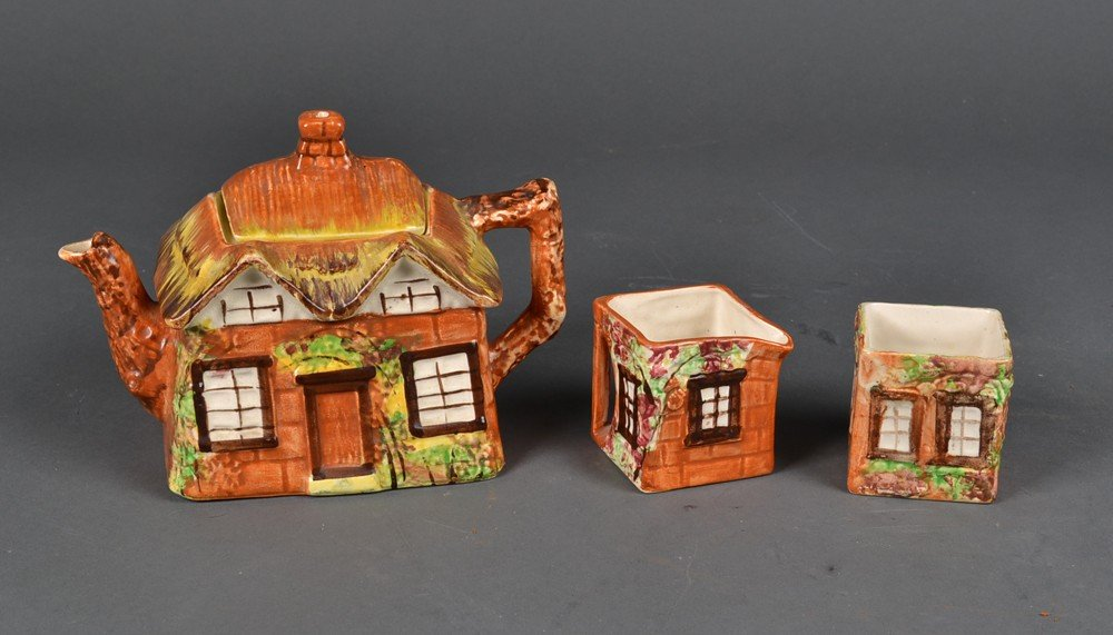 494: (3) Piece Price Bros. English Cottage Tea Set