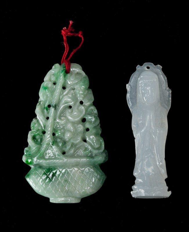 595: (2) Pieces Jade and Jadeite