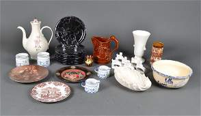 672 Grouping of 28 Porcelain  Pottery Articles