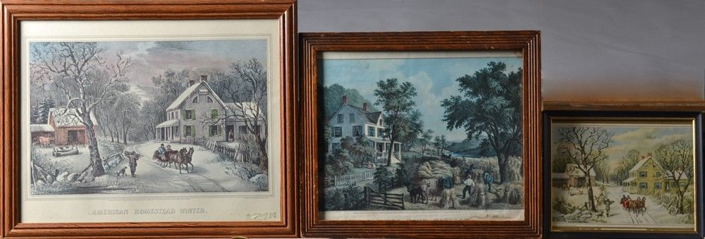 735: (3) Currier & Ives Lithographs & Prints