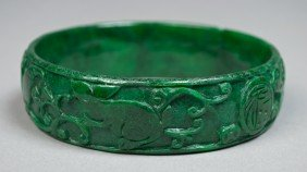 8: Chinese Carved Jade Bangle