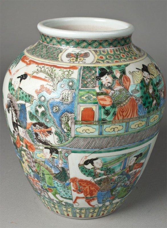 13: Chinese Kangxi Famille Verte Jar