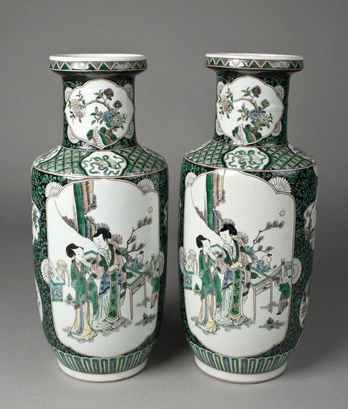 14: Pr. Of Chinese Porcelain Bang Chui Vases