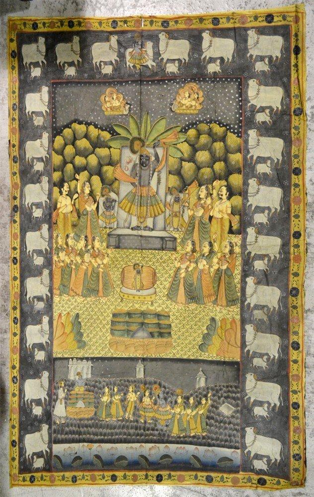 15: A Fine Hand Painted Batik India Wedding Cloth