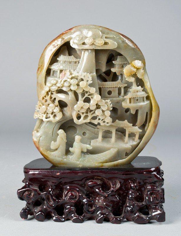 19: Fine Chinese Carved Hetian Jade Boulder