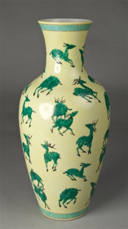 24: Large Chinese Porcelain Deer Vase