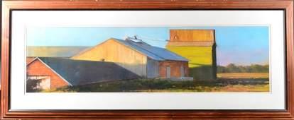 324: Edwar Woddc, Large Framed Farm Print