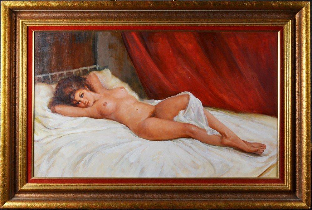345: An Austrian Oil Painting on Canvas