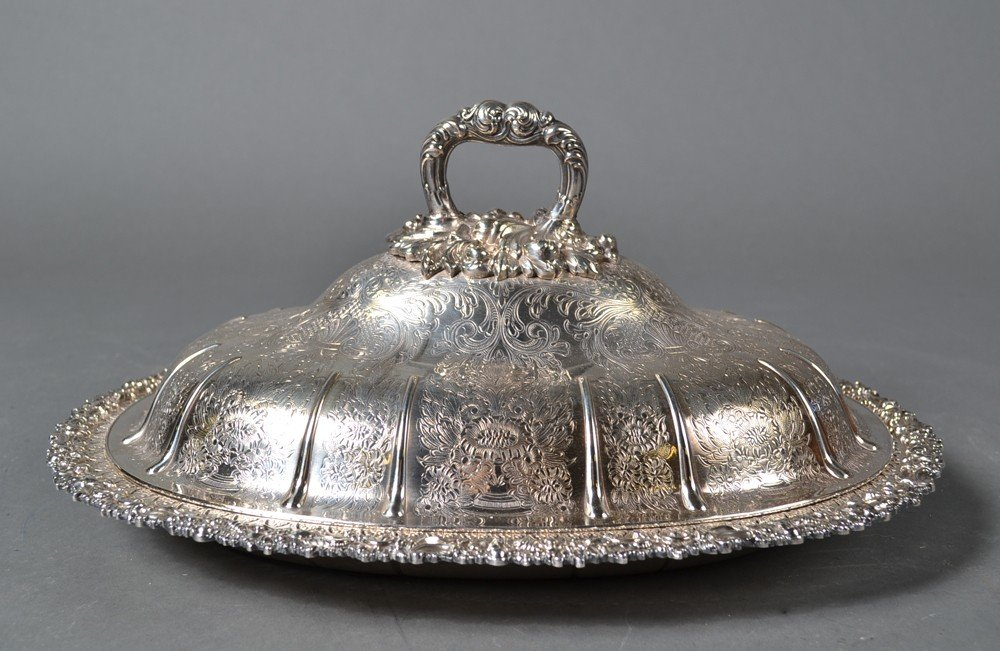 445: Fine English Silver Plated Covered Dish