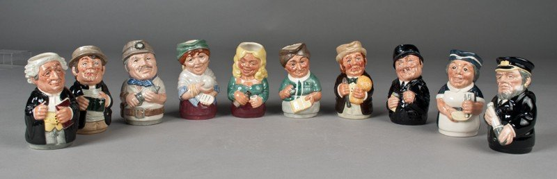 """447: Group of (10) Royal Doulton """"Doultonville"""" Pitcher"""