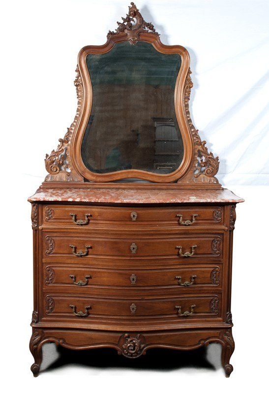 450: A Fine Early Victorian Marble Top Dresser