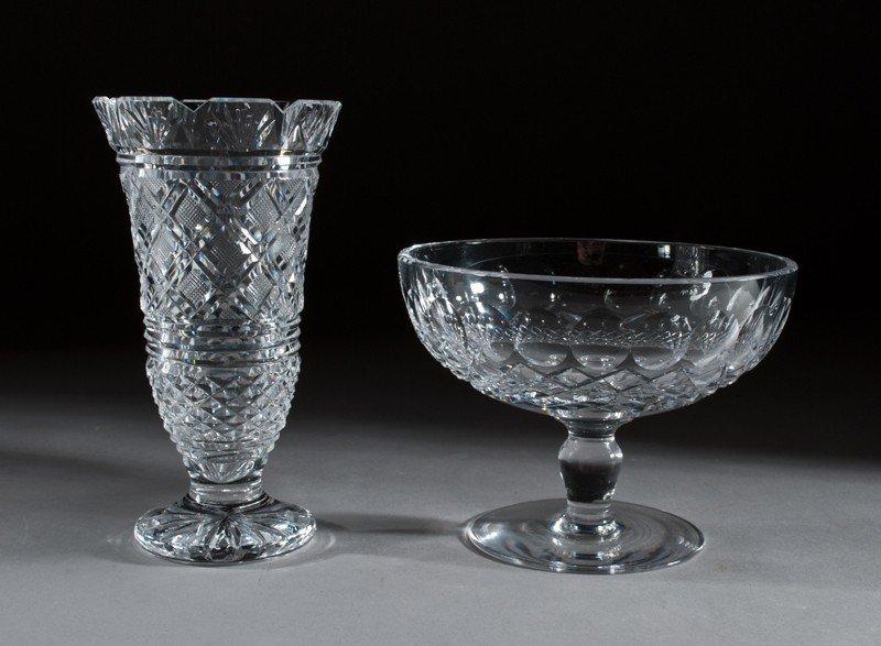 451: (2) Waterford Crystal, Bowl & Vase