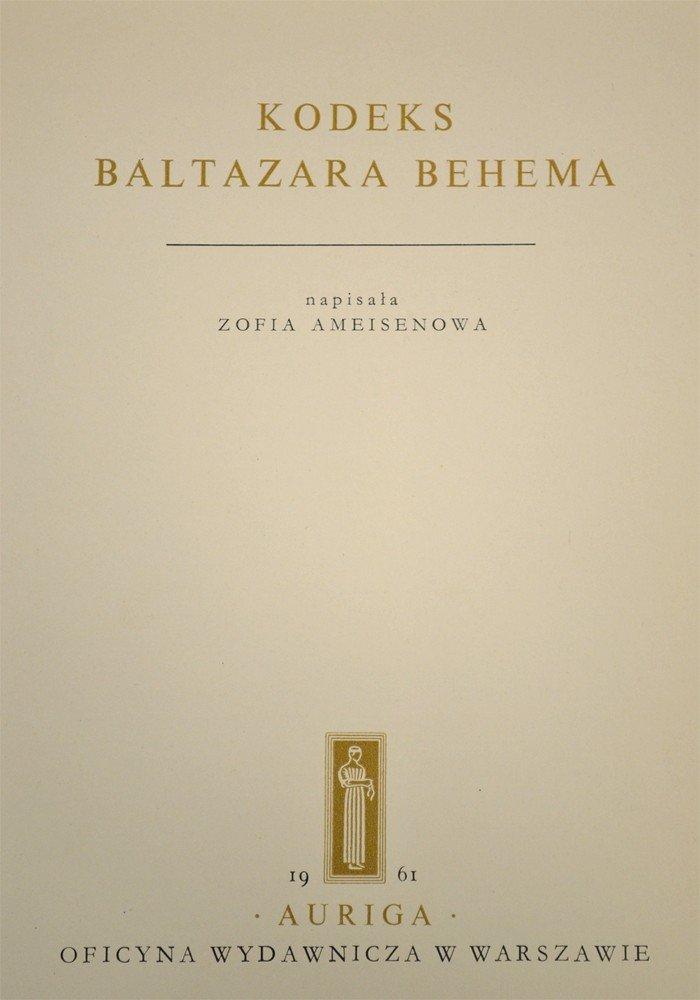 455: Kodeks Baltazara Behema, 1961