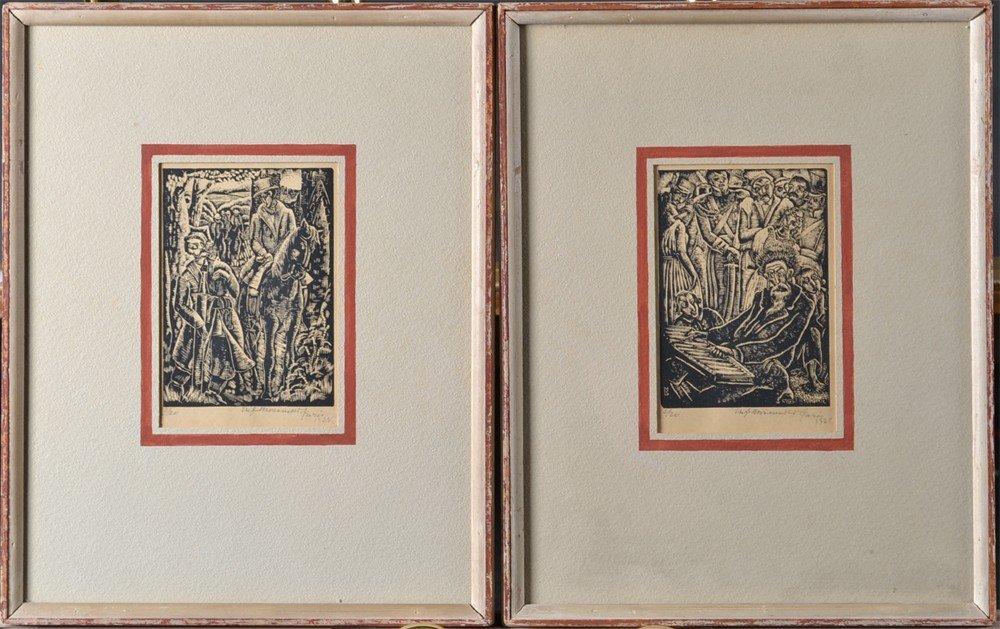 457: Pr. Of Stefan Mrowzsski Woodblock Prints