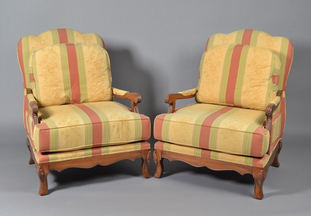 461: Pr. Of Baker Upholstered Arm Chairs