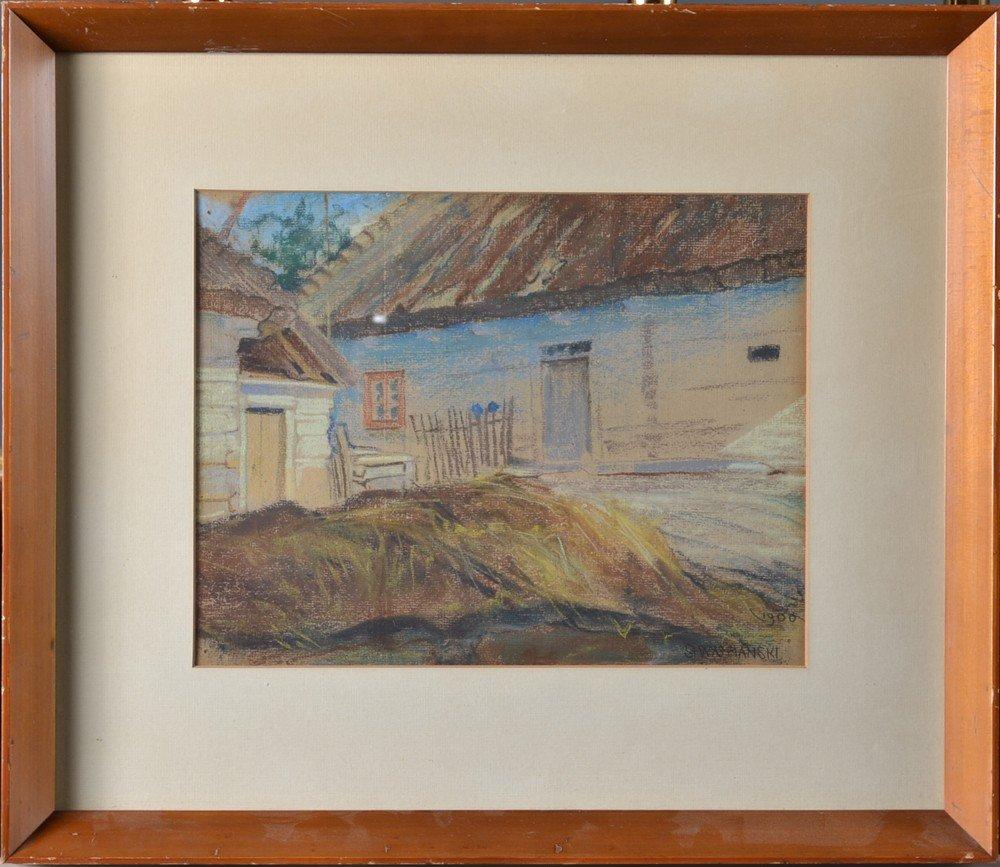 511: Stanislas Wyspianski, Pastel on Paper