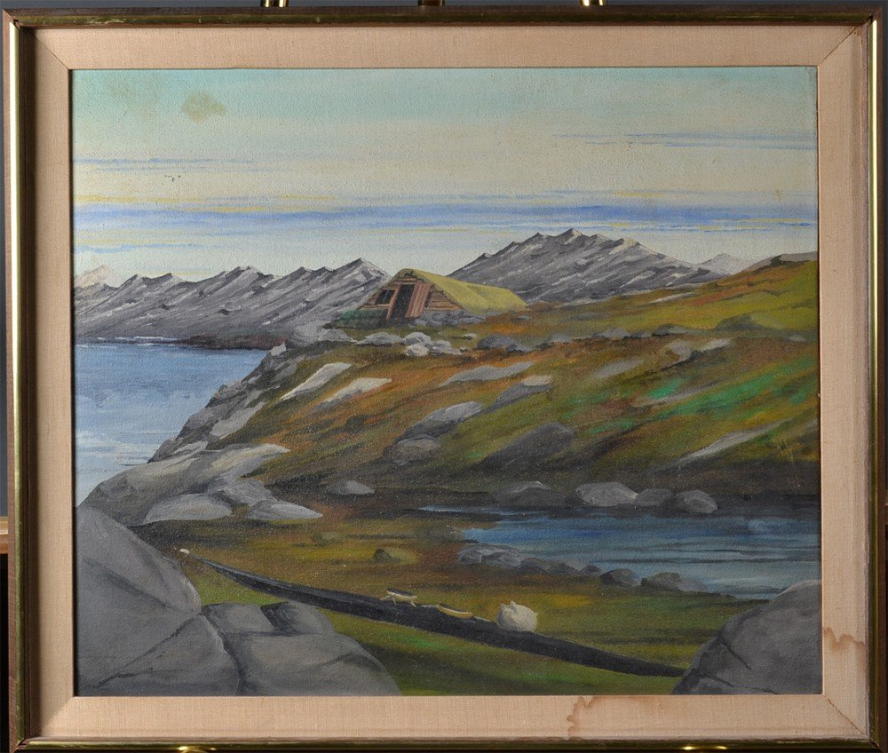 520: Attb. Charles Rosen Oil Painting On Board