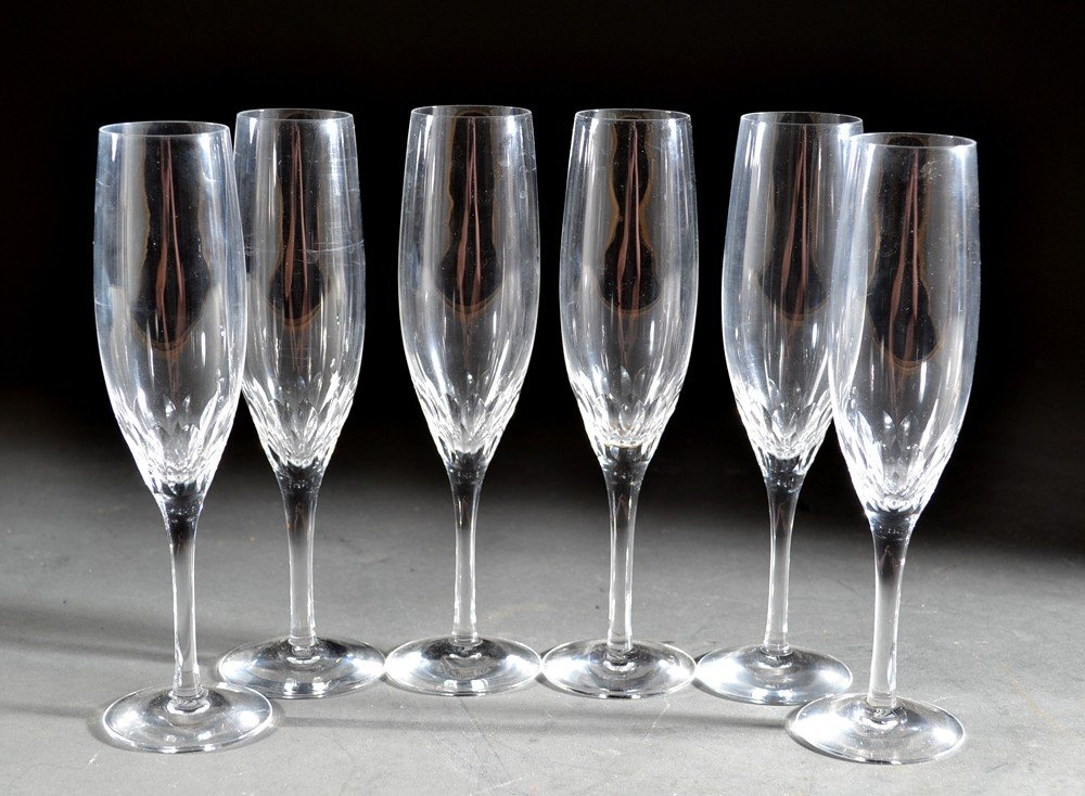 528: A Fine Group Of Orrefors Champagne Flutes