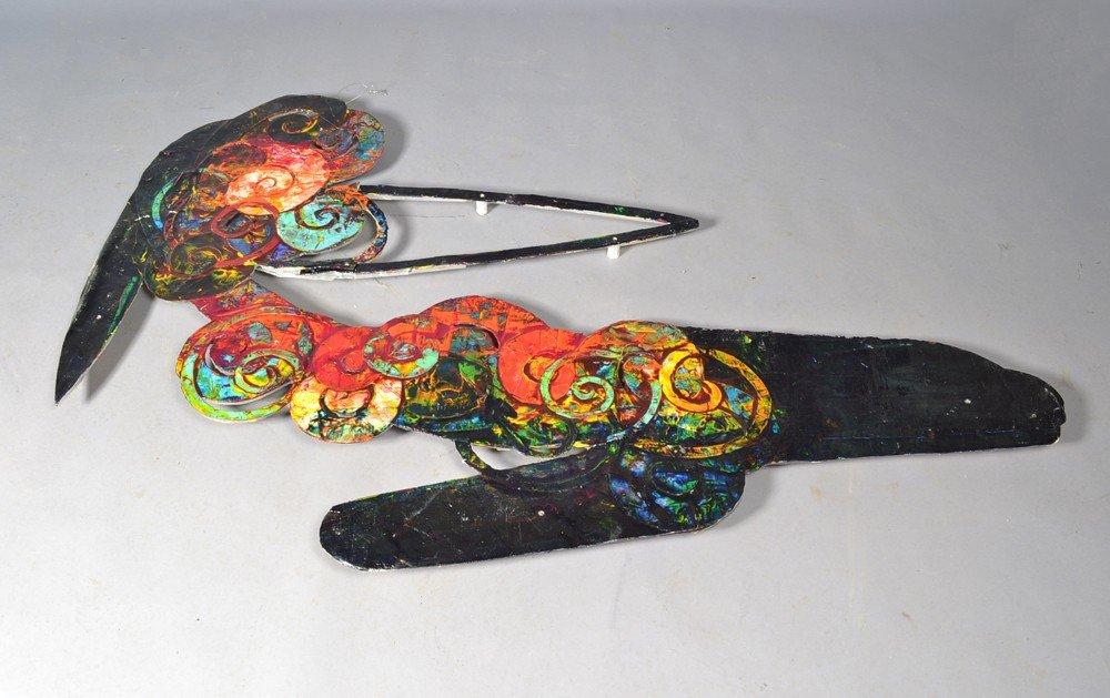 583: Al Loving, Acrylic on Rag Paper Mounted on Plexigl