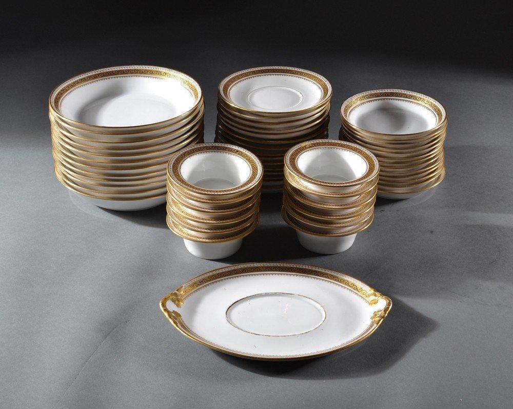 590: (53) WM Guernin Limoges Serving Pieces
