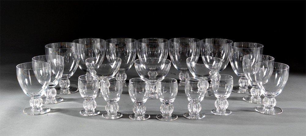 594: (20) Pieces of Lalique Stemware