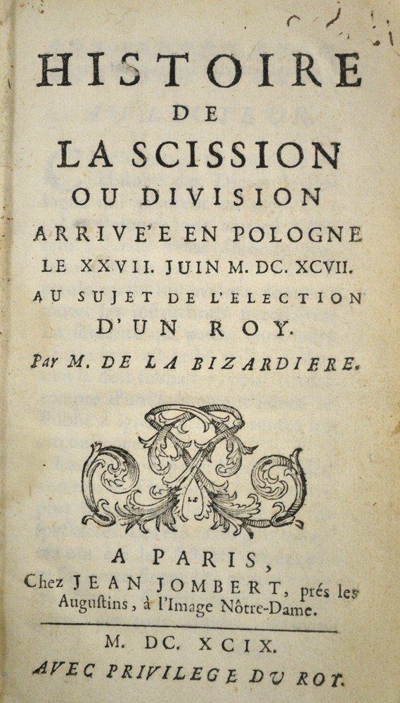 595: Histoire De La Scission Ou Division, 1697