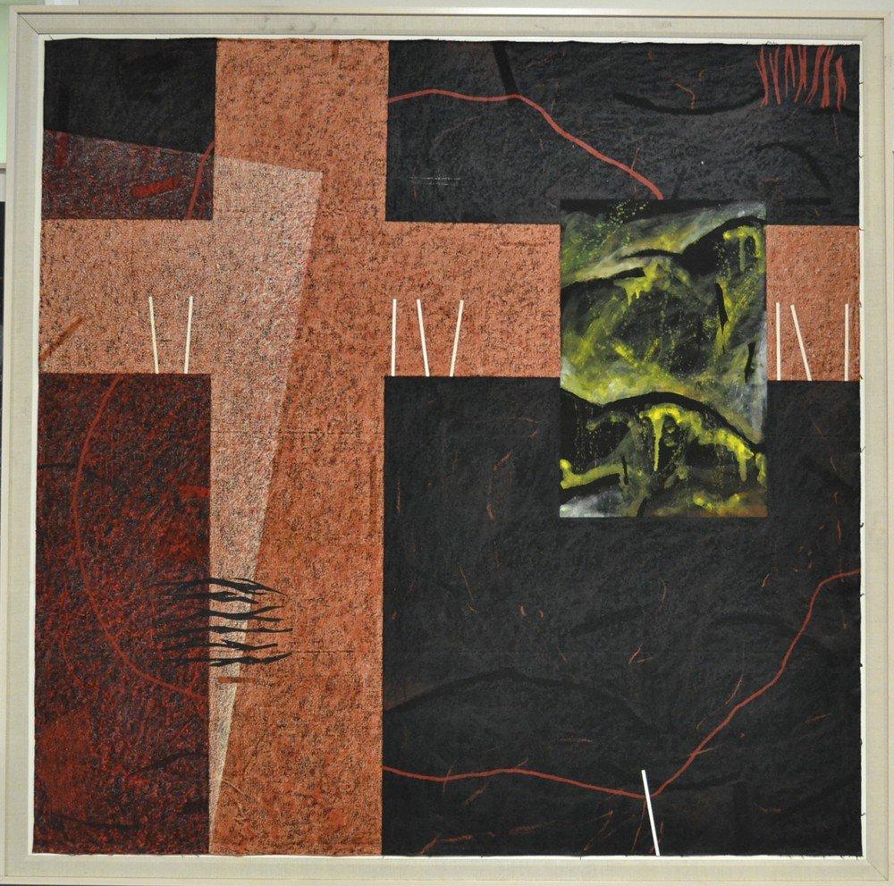 600: Nanette Carter, Oil Painting on Mylar