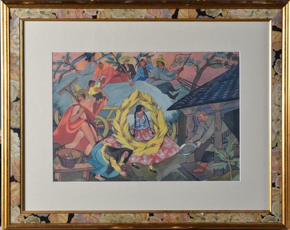 604: Sophie (Zophia) Stryjenska, Lithograph in Colors
