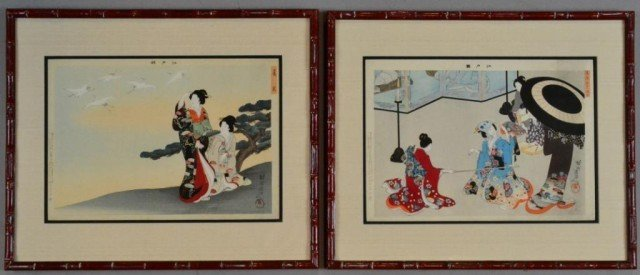 Pr. Fine Japanese Woodblock Prints Edo Period