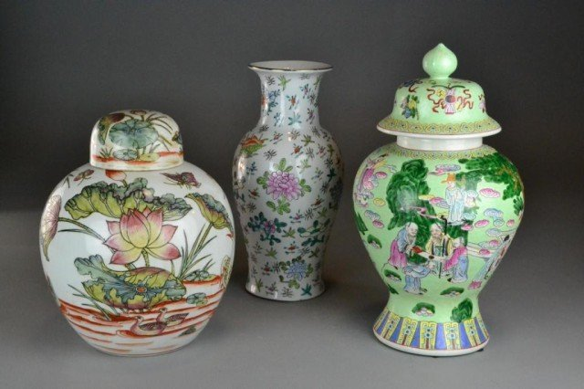 (3) Pcs. Chinese Porcelain